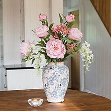 Peony Peonies in a Vintage Ceramic Vase