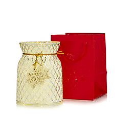 Bella Notte Large Glass Votive Holder with Light Strand in a Gift Bag