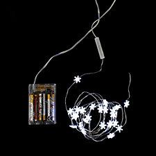 bethlehem lights battery operated 24 cool white led mini light strand. Black Bedroom Furniture Sets. Home Design Ideas