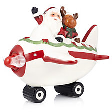 Santa Express LED Ceramic Greetings Plane with Music