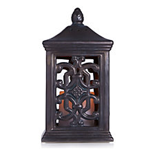 Bella Notte Porcelain Lantern & Flameless Candle with Timer Function