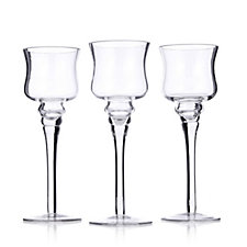 Yankee Candle Set of 3 Stemmed Glass Tulip Votive Holders