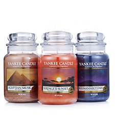 Yankee Candle Set of 3 Out of Africa Large Jars