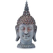 Bella Notte Indoor/Outdoor LED Resin Buddha Head