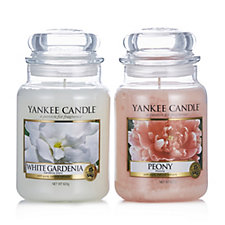 Yankee Candle Set of 2 Floral Bouquet Large Jars