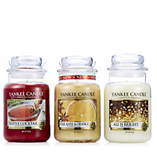 Yankee Candle Set of 3 Holiday Party Large Jars