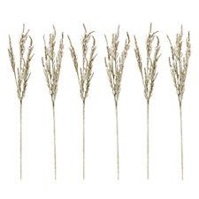 704967 - Alison Cork Set of 6 Metal Pine Glitter Spray Decorations