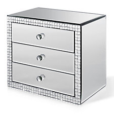 705567 - JM by Julien Macdonald Signature Crystal Mirrored 3 Drawer Trinket Box