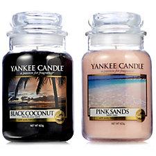 Yankee Candle Island Vacation Set of 2 Large Jars