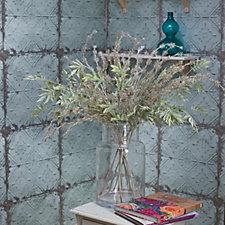 Peony Bamboo Foliage & Sparkly Foliage in Large Contemporary Vase