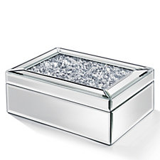 705571 - JM by Julien Macdonald Deco Encapsulated Crystal Glass Trinket Box