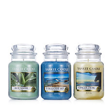 Yankee Candle Set of 3 Vacation Skies Large Jars