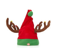 Animated Singing LED Antler Hat