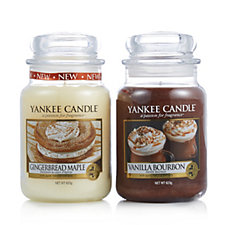 Yankee Candle Set of 2 Autumn Trend Collection Large Jars