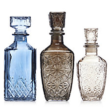 706772 - Alison Cork Set of 3 Glass Decanters