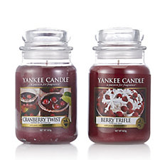 Yankee Candle Set of 2 Winter Trend Collection Large Jars