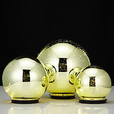 Mr Christmas Set of 3 Lit Indoor/Outdoor Mercury Glass Spheres with Timer