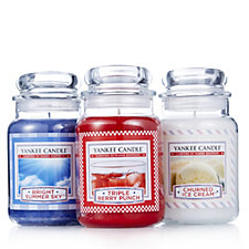 Yankee Candle Set of 3 Summer Street Party Large Jars