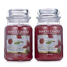Yankee Candle Set of 2 Cherries on Snow Large Jars