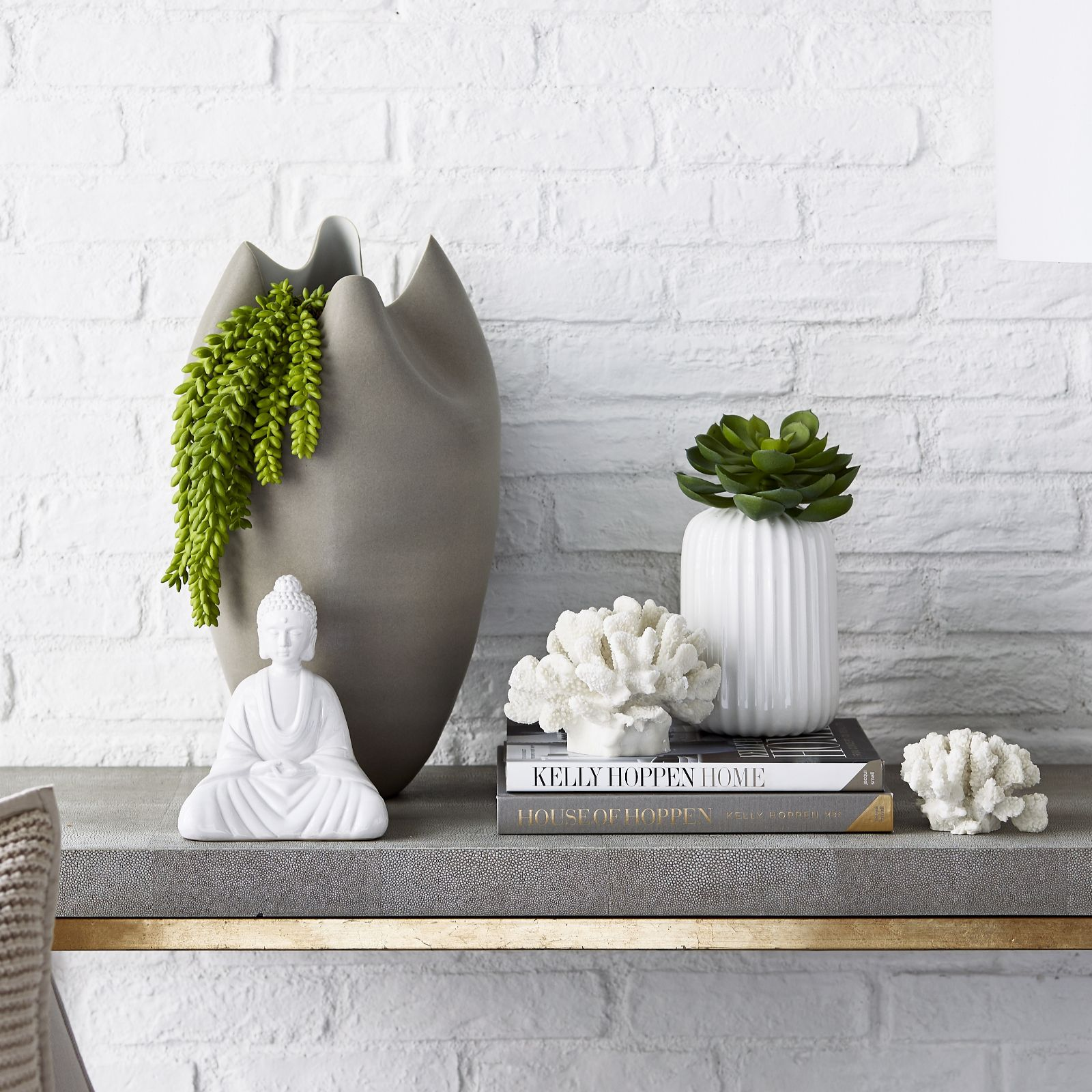 K by Kelly Hoppen Tall Pinched Porcelain Vase - QVC UK