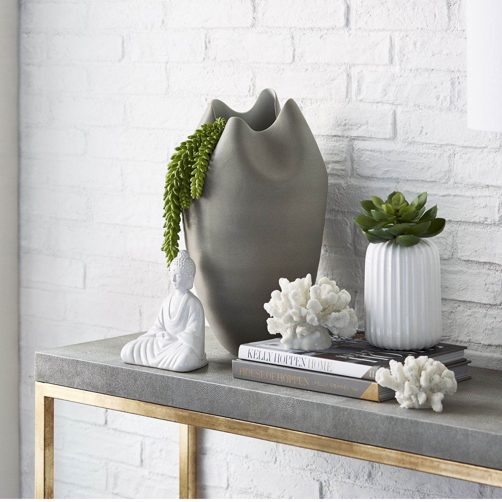 K by kelly hoppen tall pinched porcelain vase qvc uk reviewsmspy
