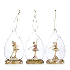 Home Reflections Set of 3 Ballerina Decorations