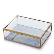 706676 - Home Reflections Marbled Glass Trinket Box