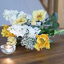Peony Tulip Roses & Hydrangea Bouquet