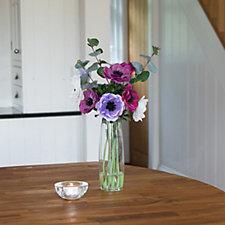 Peony Anemones & Eucalyptus in a Tall Vase