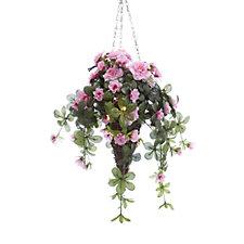 Bluebird & Bramble Pre-lit Azalea Hanging Basket