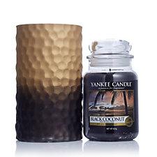Yankee Candle Large Jar Black Coconut & Large Jar Holder