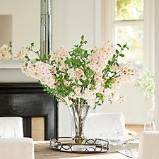Peony Blossom & Privet Leaf in a Trumpet Vase