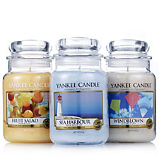 Yankee Candle Set of 3 Day at the Coast Large Jars