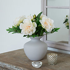 Peony Peonies in a Tight Lipped Vase