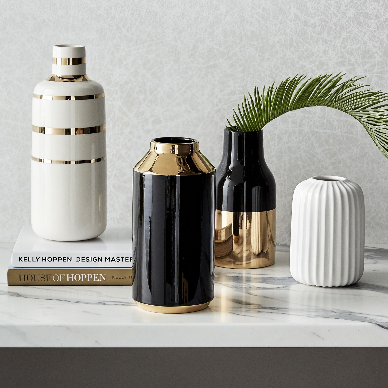 Kelly hoppen black gold bottle vase qvc uk reviewsmspy
