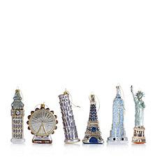 704782 - Alison Cork Set of 6 Around the World Decorations