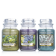 706182 - Yankee Candle Set of 3 USA Special Vineyard Collection Large Jars