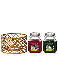 Yankee Candle The Perfect Christmas Set of 2 Medium Jars & Shade