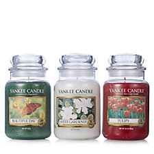 Yankee Candle Set of 3 USA Special English Garden Collection Large Jars
