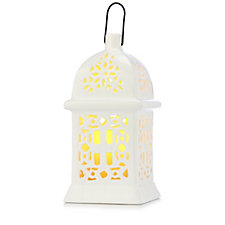 705484 - Bethlehem Lights Ceramic Cut Out Moroccan Lantern