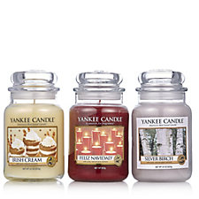 Yankee Candle Set of 3 USA Special Winter Delight Collection Large Jars