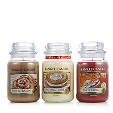 Yankee Candle Set of 3 Calorie Free Treats Large Jars