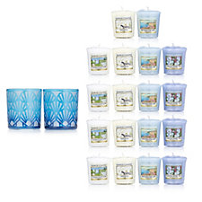 Yankee Candle Twilight Dusk Shell Holders with 18 Votives