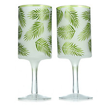 Yankee Candle Set of 2 Under the Palms Pillar Holders