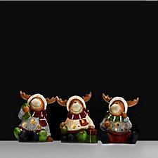 Bella Notte Set of 3 Christmas Character Luminaries