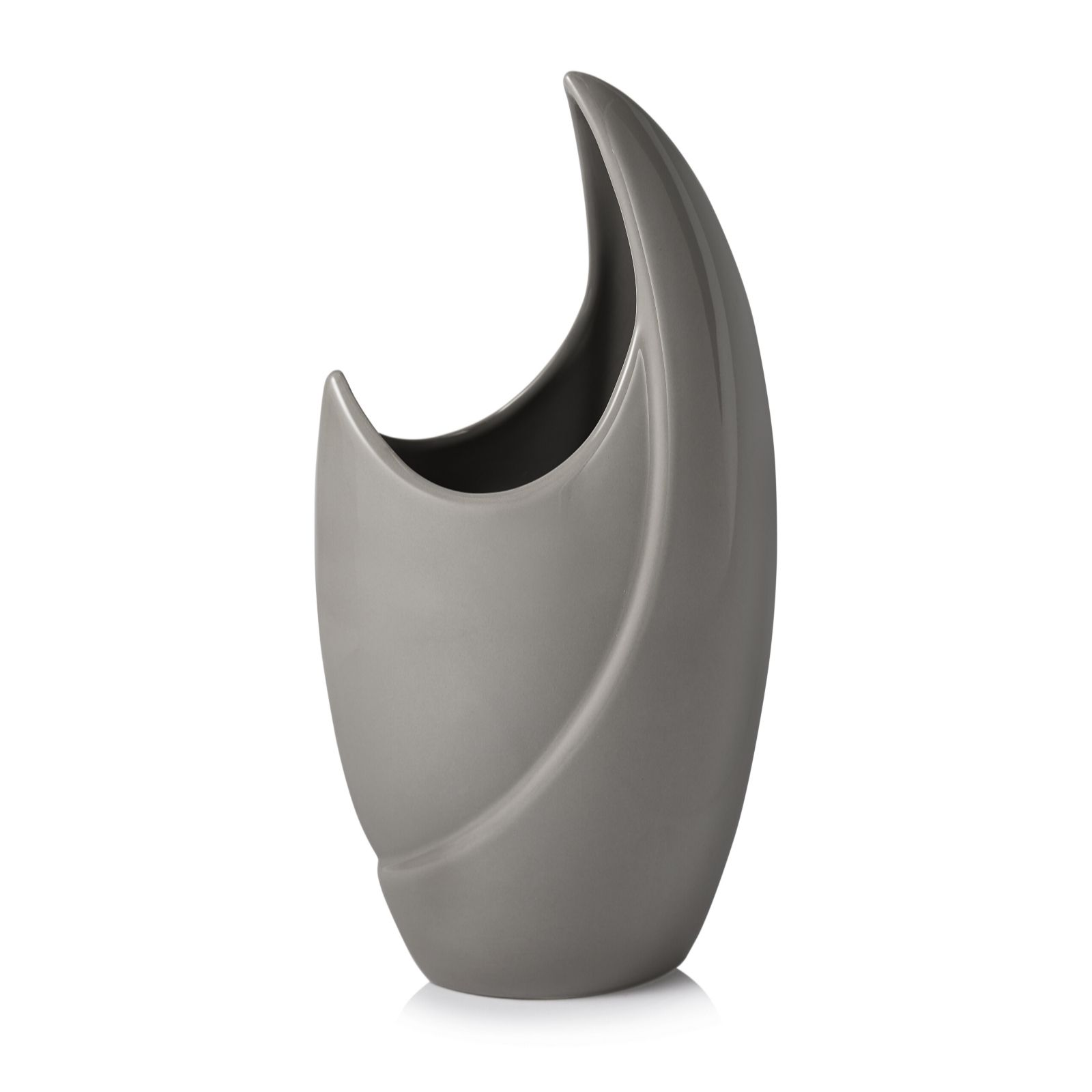 K by kelly hoppen half moon glazed vase qvc uk reviewsmspy