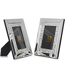 JM by Julien Macdonald Set of 2 Crystal Photo Frames in Gift Boxes