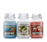 Yankee Candle Set of 3 Riviera Escape Large Jars