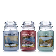 Yankee Candle Set of 3 Coastal Living Large Jars