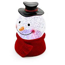 Santa Express Animated LED Head Snowman Snow Globe